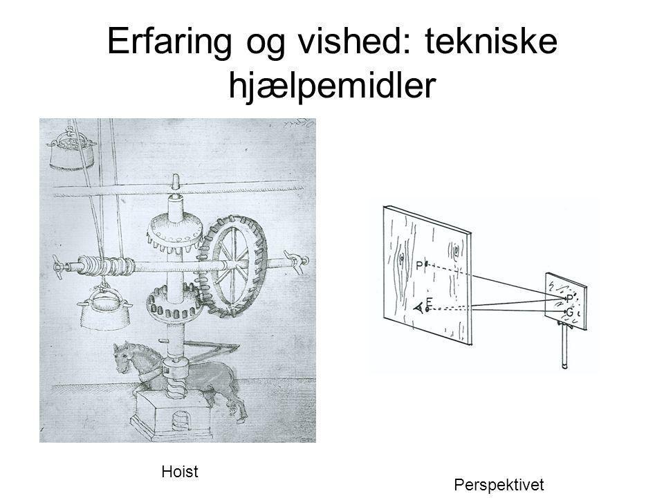 Erfaring og vished: tekniske hjælpemidler Hoist Perspektivet