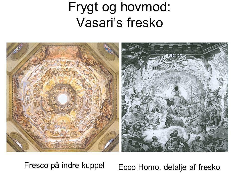 Frygt og hovmod: Vasaris fresko Fresco på indre kuppel Ecco Homo, detalje af fresko