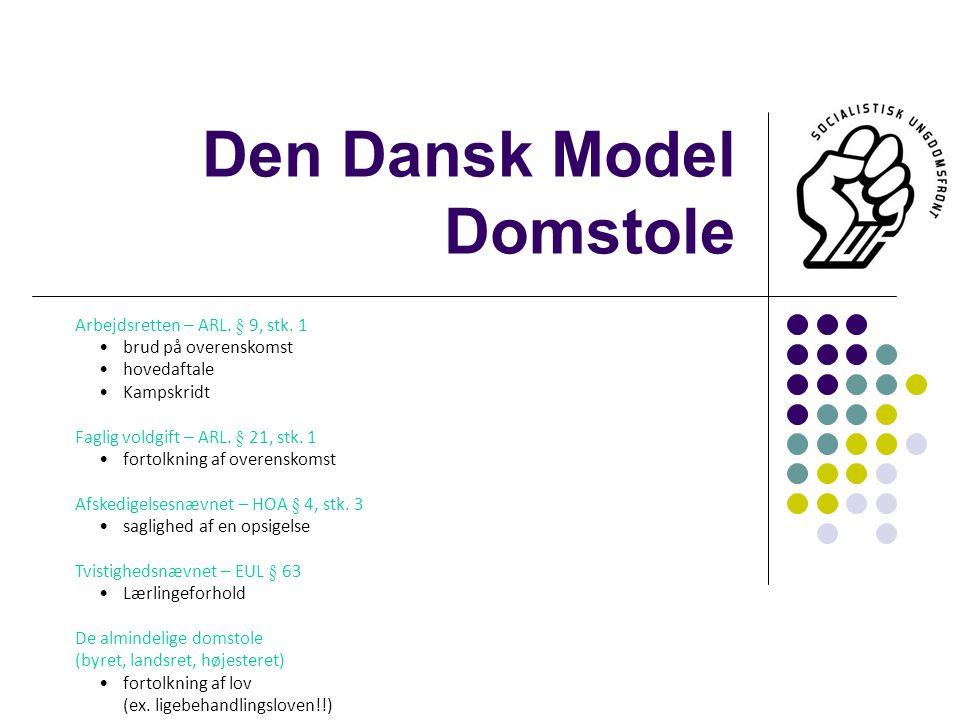 Den Dansk Model Domstole Arbejdsretten – ARL. § 9, stk.