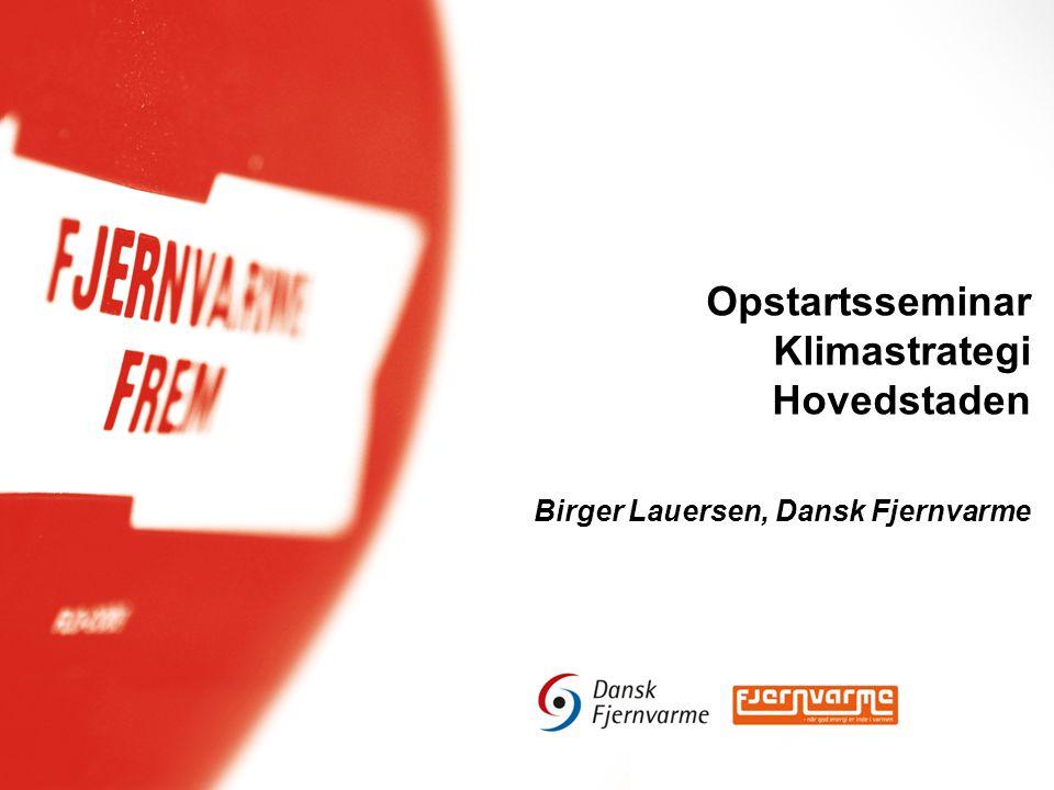 Opstartsseminar Klimastrategi Hovedstaden Birger Lauersen, Dansk Fjernvarme