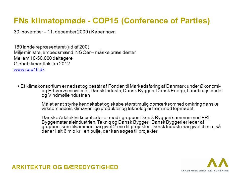 FNs klimatopmøde - COP15 (Conference of Parties) 30.