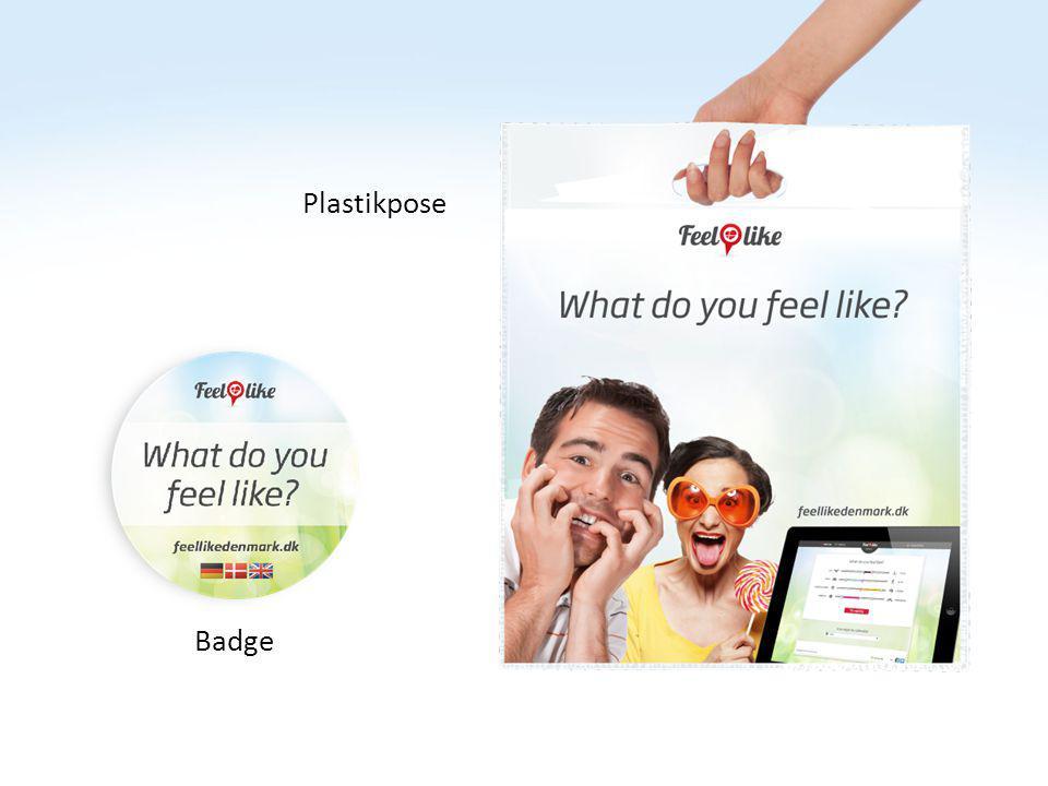 [Billede] Tekst [Billede] tekst Badge Plastikpose