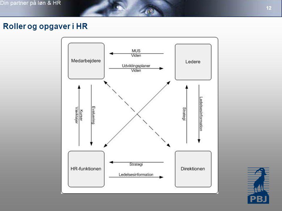 12 Roller og opgaver i HR