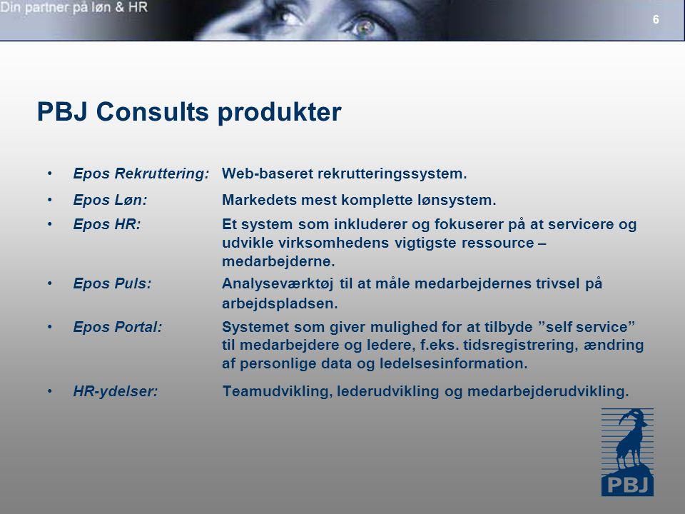 6 PBJ Consults produkter Epos Rekruttering:Web-baseret rekrutteringssystem.