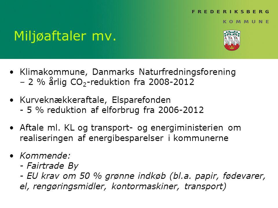 Miljøaftaler mv.