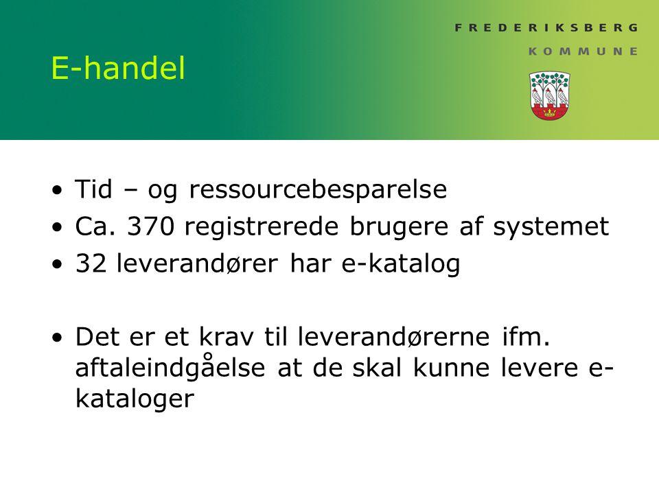 E-handel Tid – og ressourcebesparelse Ca.