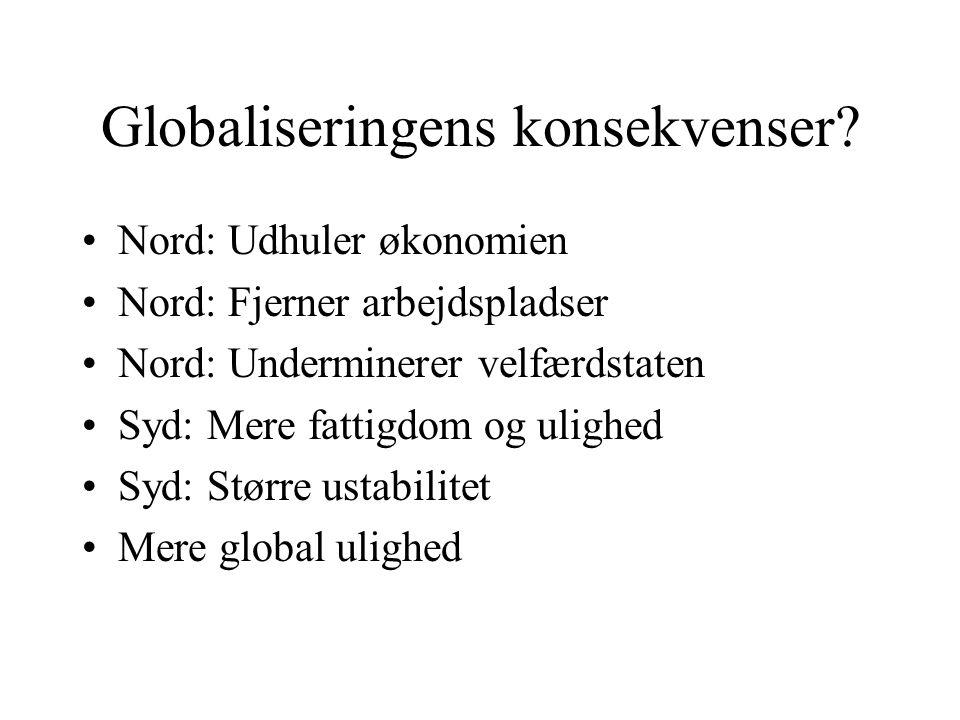 Globaliseringens konsekvenser.