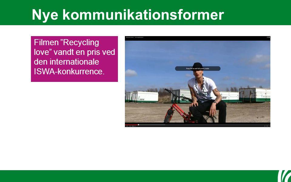 Nye kommunikationsformer Filmen Recycling love vandt en pris ved den internationale ISWA-konkurrence.