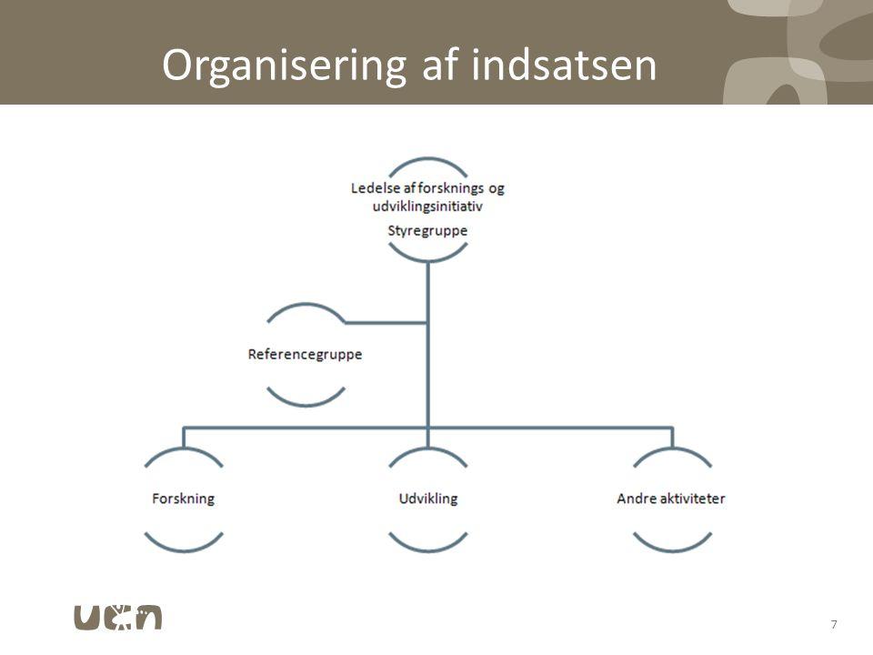 Organisering af indsatsen 7