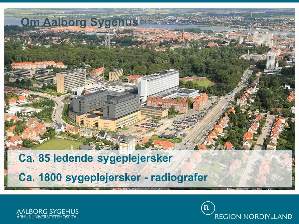 Ca. 85 ledende sygeplejersker Ca. 1800 sygeplejersker - radiografer Om Aalborg Sygehus