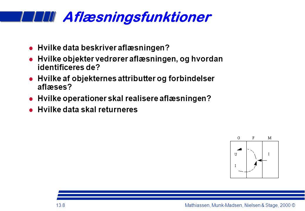 13.8 Mathiassen, Munk-Madsen, Nielsen & Stage, 2000 © Hvilke data beskriver aflæsningen.