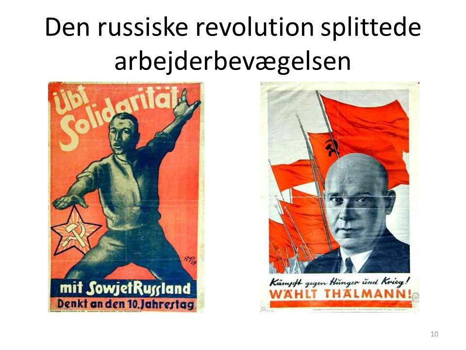 Den russiske revolution splittede arbejderbevægelsen 10
