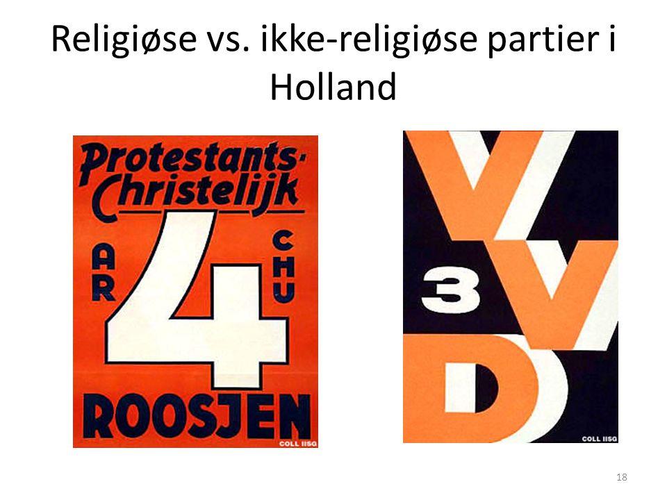Religiøse vs. ikke-religiøse partier i Holland 18