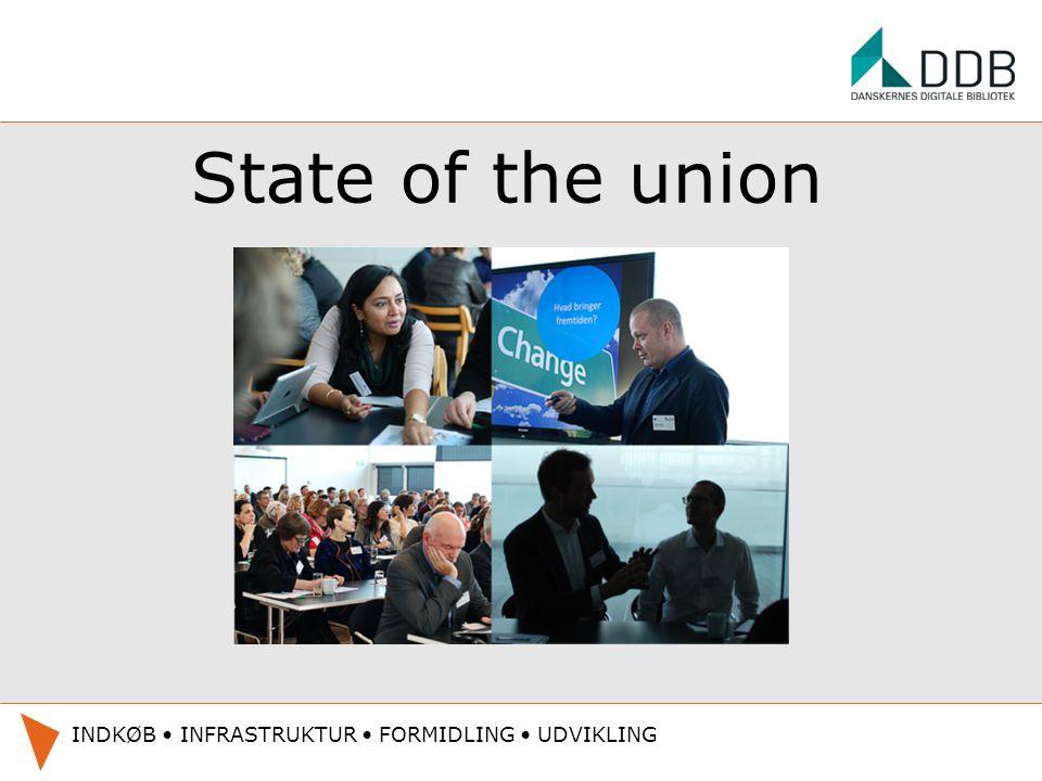 State of the union INDKØB INFRASTRUKTUR FORMIDLING UDVIKLING