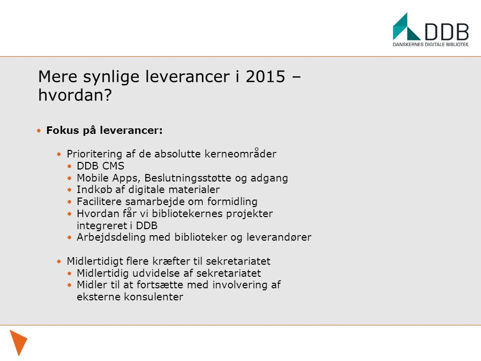 Mere synlige leverancer i 2015 – hvordan.