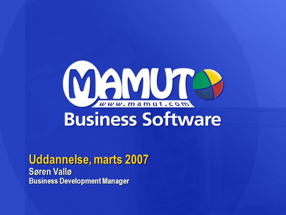Uddannelse, marts 2007 Søren Vallø Business Development Manager