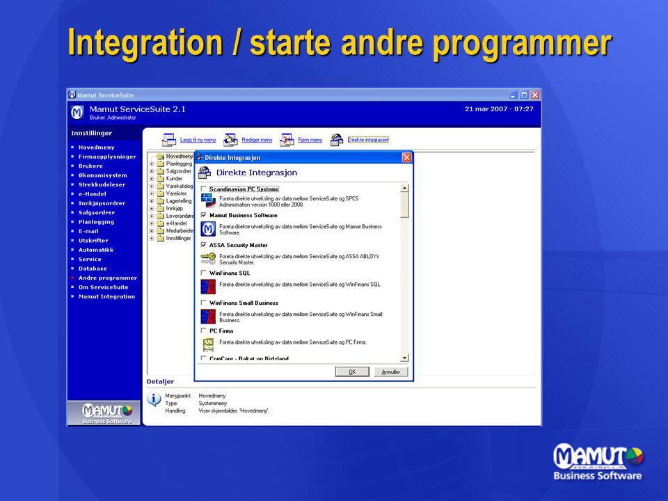 Integration / starte andre programmer