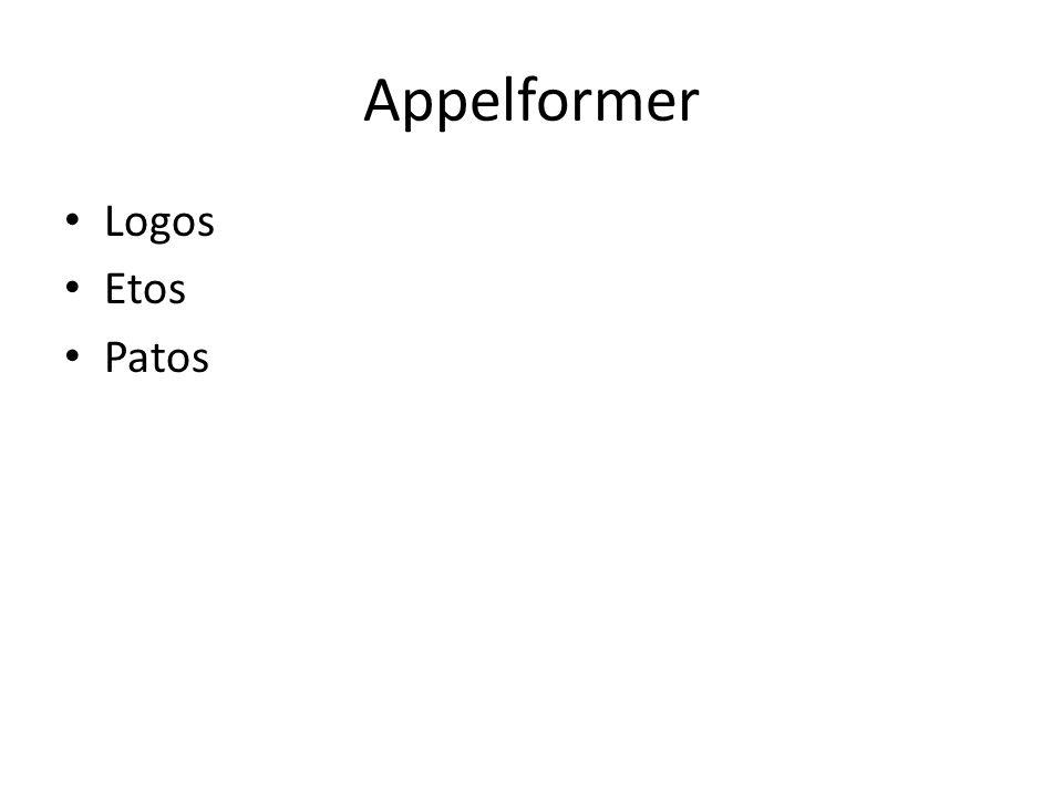 Appelformer Logos Etos Patos