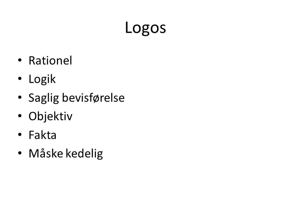 Logos Rationel Logik Saglig bevisførelse Objektiv Fakta Måske kedelig