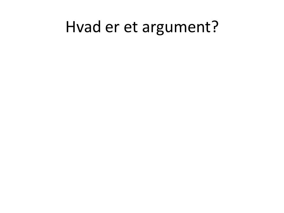 Hvad er et argument?