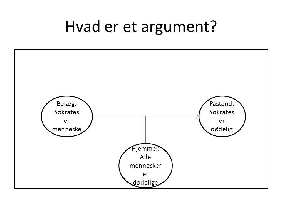 Hvad er et argument.