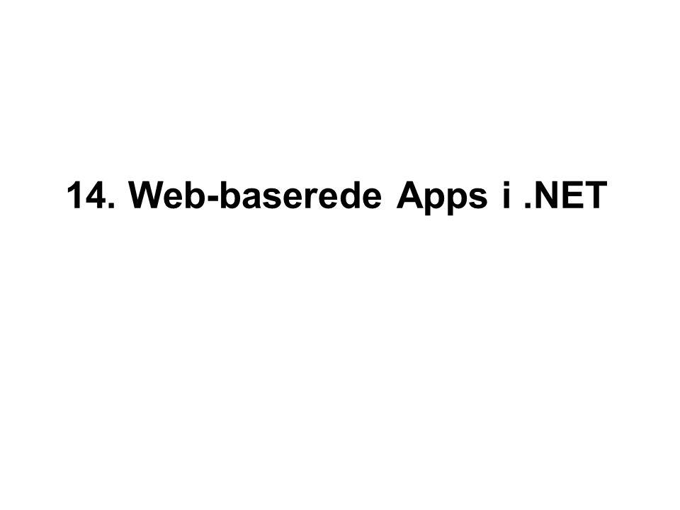 14. Web-baserede Apps i.NET