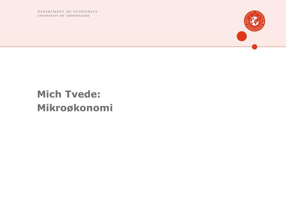 Mich Tvede: Mikroøkonomi
