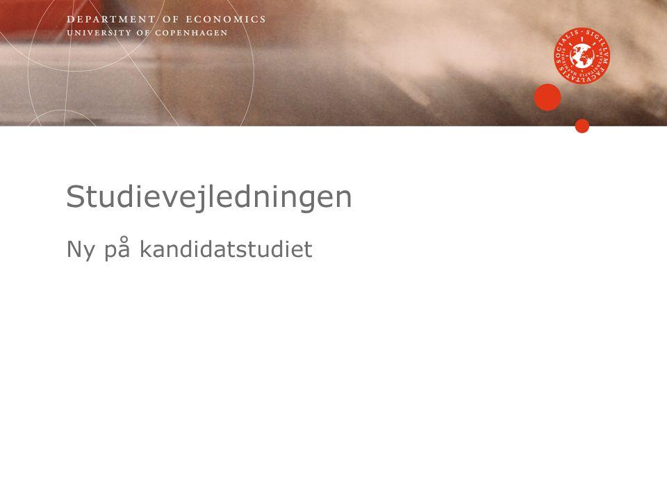 Studievejledningen Ny på kandidatstudiet