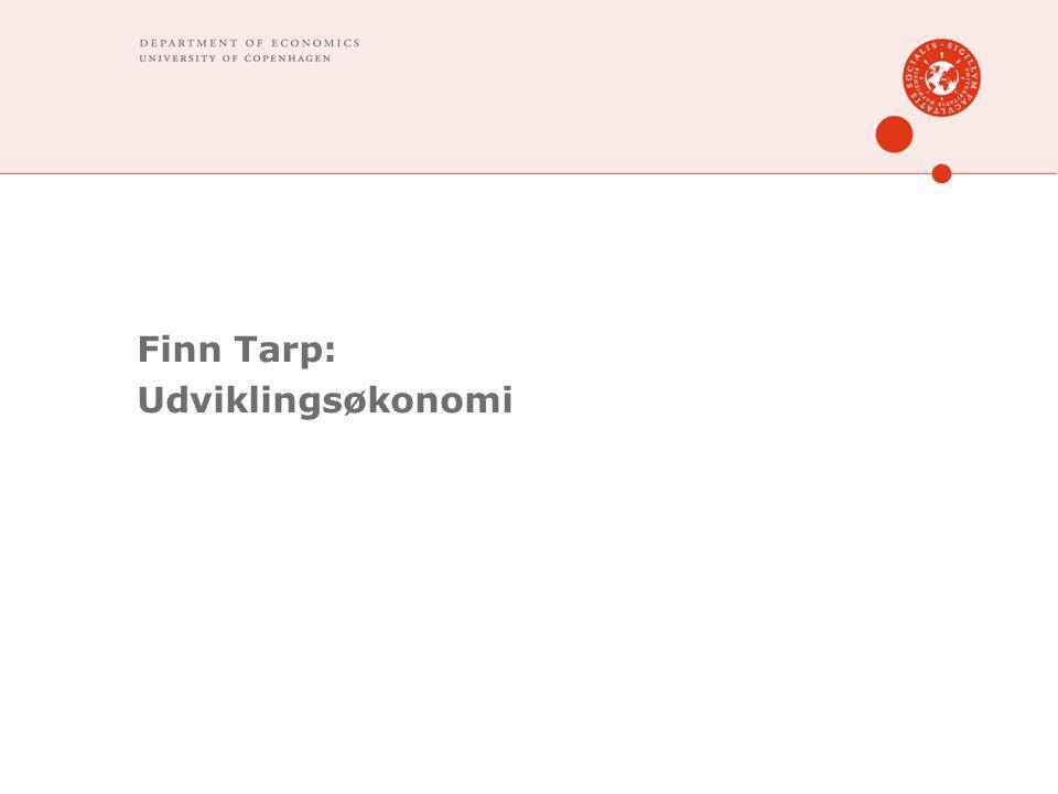Finn Tarp: Udviklingsøkonomi