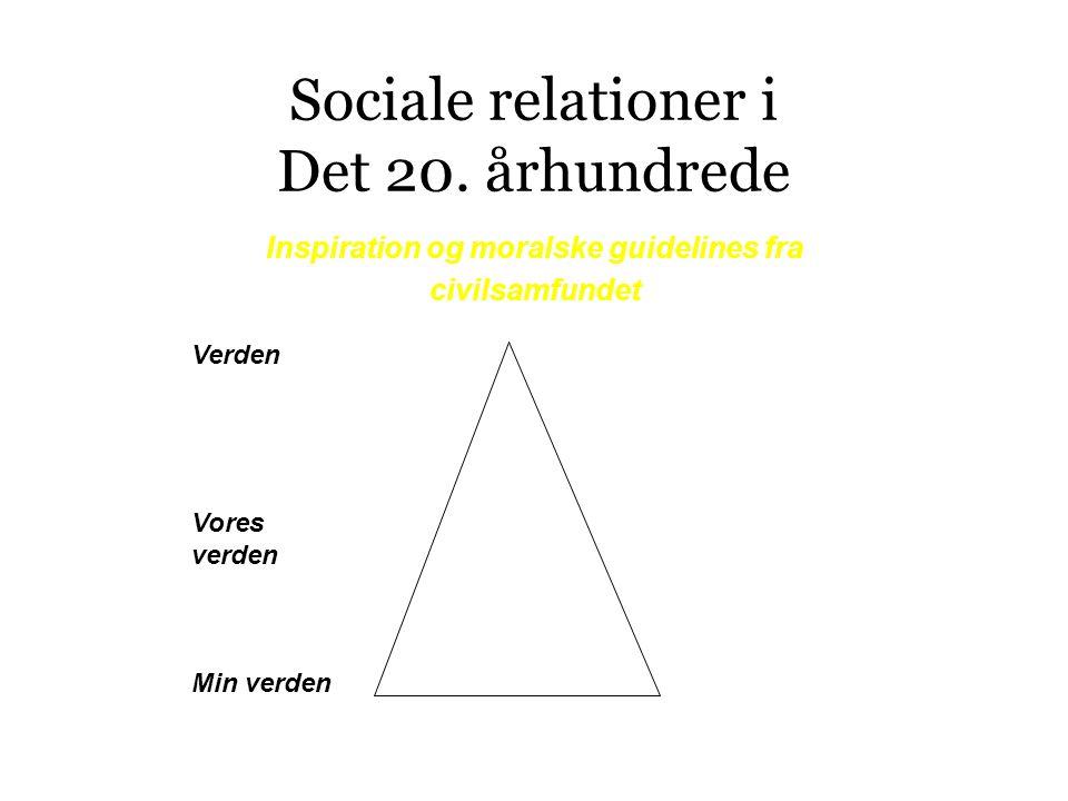 Sociale relationer i Det 20.
