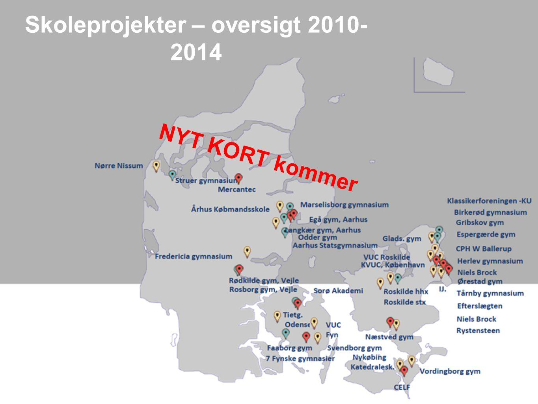 Skoleprojekter – oversigt 2010- 2014 NYT KORT kommer