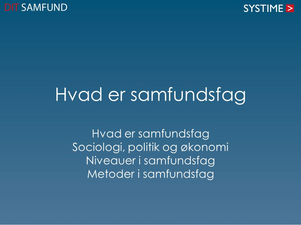 Politik er kedeligt - hvis man ikke ved noget Man lærer om – det politiske system i Danmark – de politiske partier, – ideologier – internationale samfundsforhold.