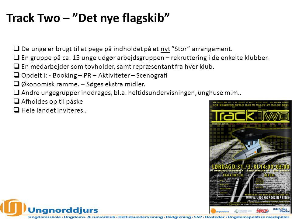 Track Two – Det nye flagskib  De unge er brugt til at pege på indholdet på et nyt Stor arrangement.
