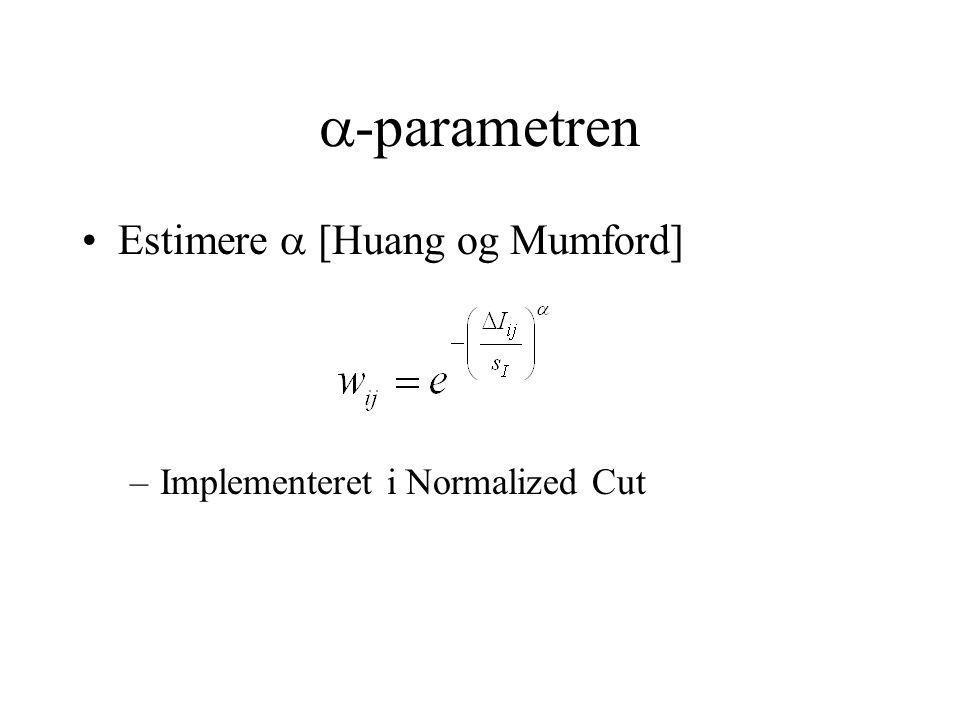  -parametren Estimere  [Huang og Mumford] –Implementeret i Normalized Cut