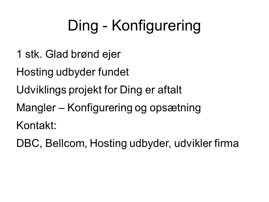 Ding - Konfigurering 1 stk.
