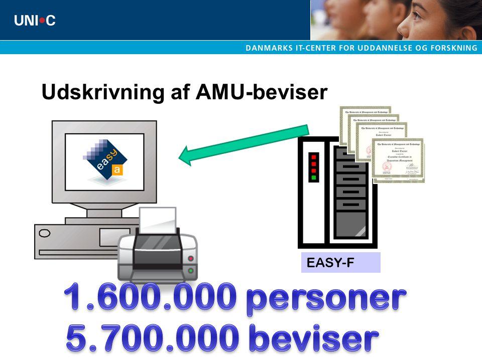 Udskrivning af AMU-beviser EASY-F