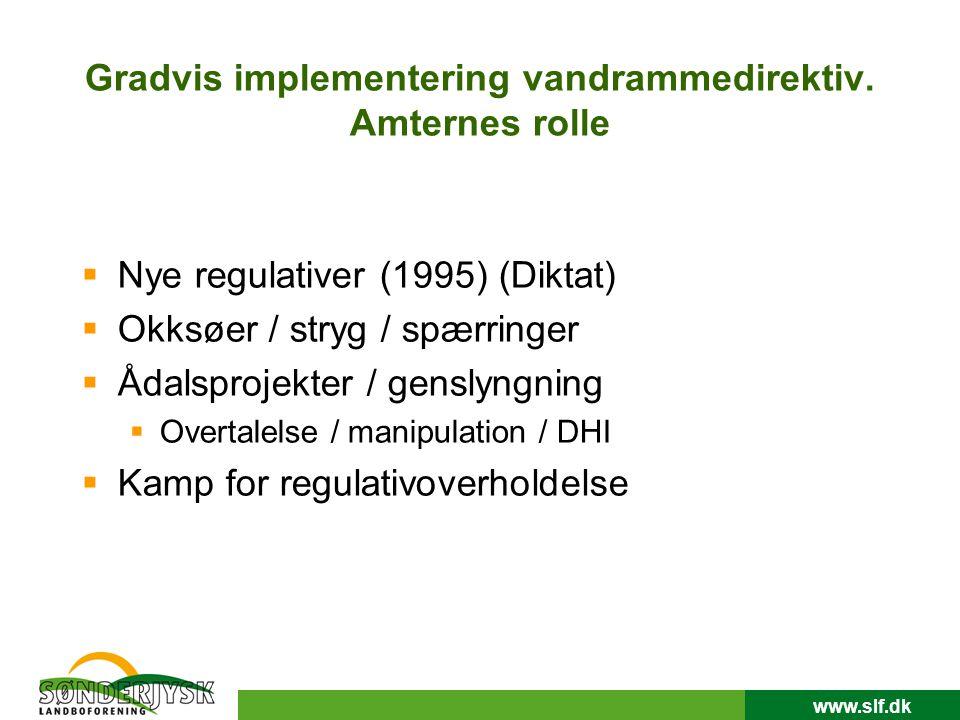 www.slf.dk Gradvis implementering vandrammedirektiv.