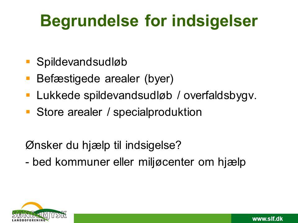 www.slf.dk Begrundelse for indsigelser  Spildevandsudløb  Befæstigede arealer (byer)  Lukkede spildevandsudløb / overfaldsbygv.