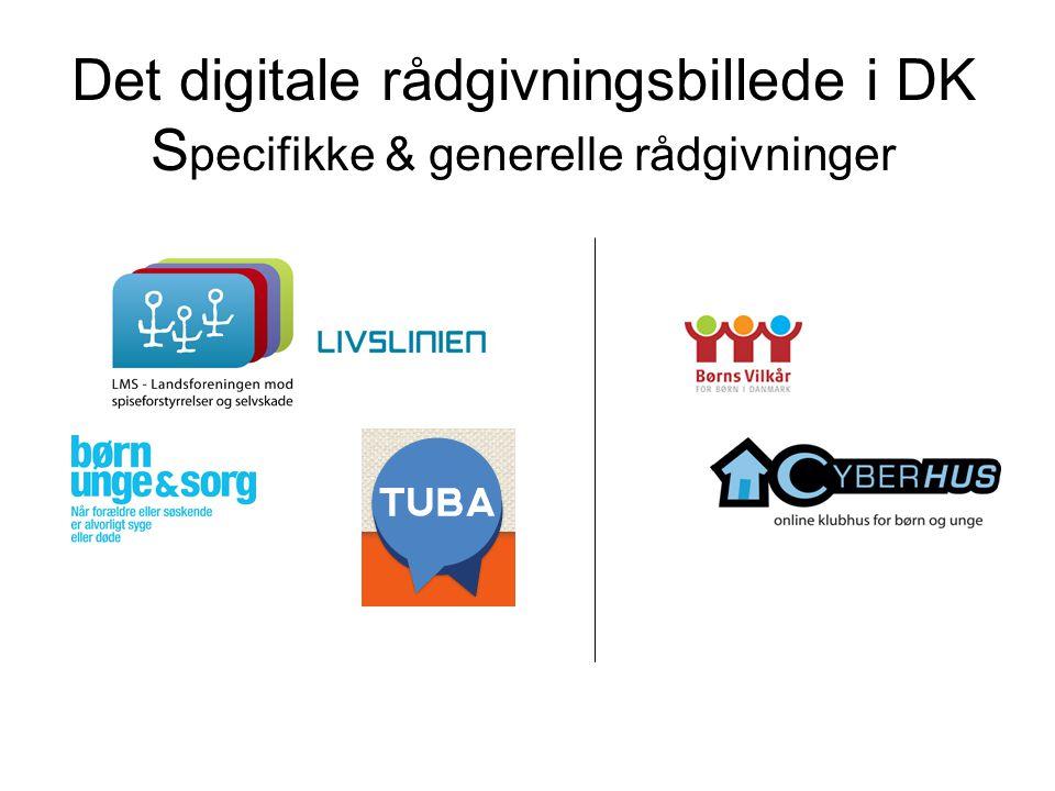 Det digitale rådgivningsbillede i DK S pecifikke & generelle rådgivninger