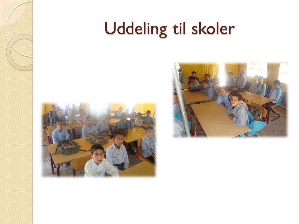 Uddeling til skoler