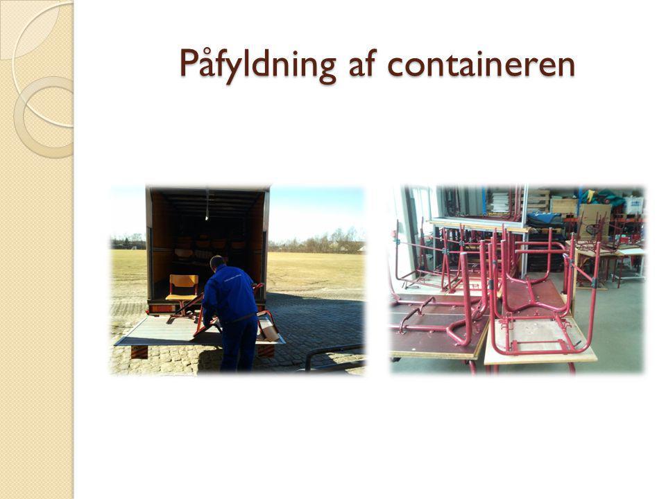 Påfyldning af containeren