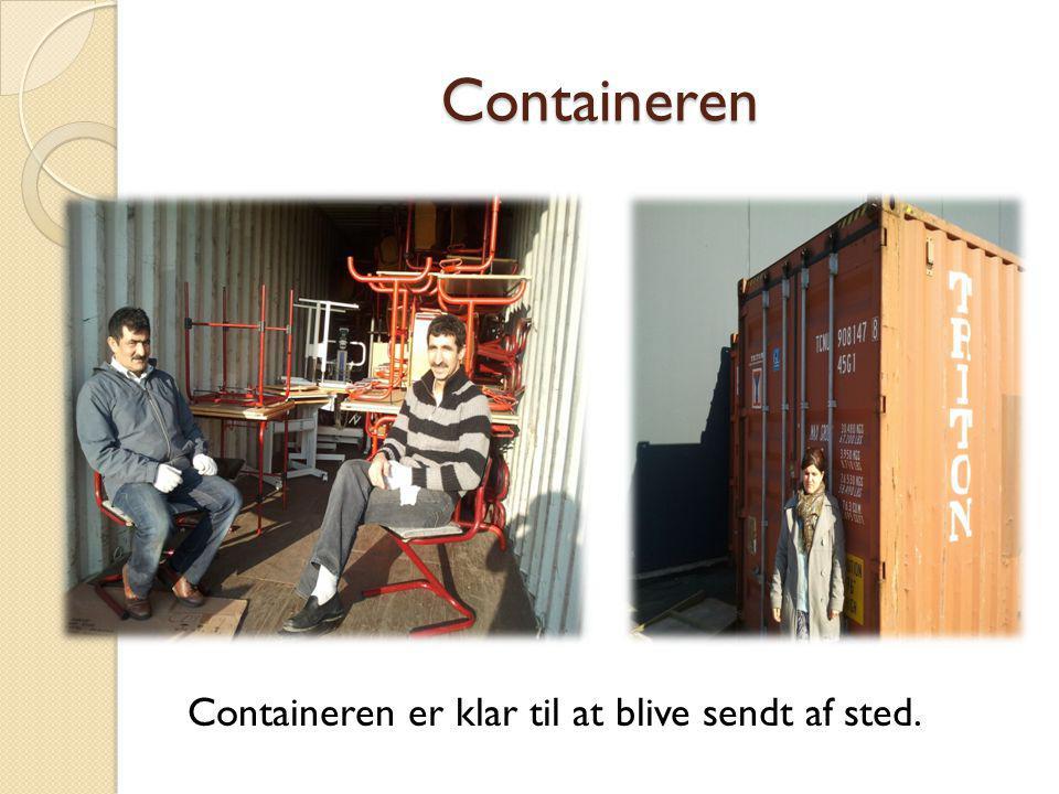 Containeren Containeren er klar til at blive sendt af sted.