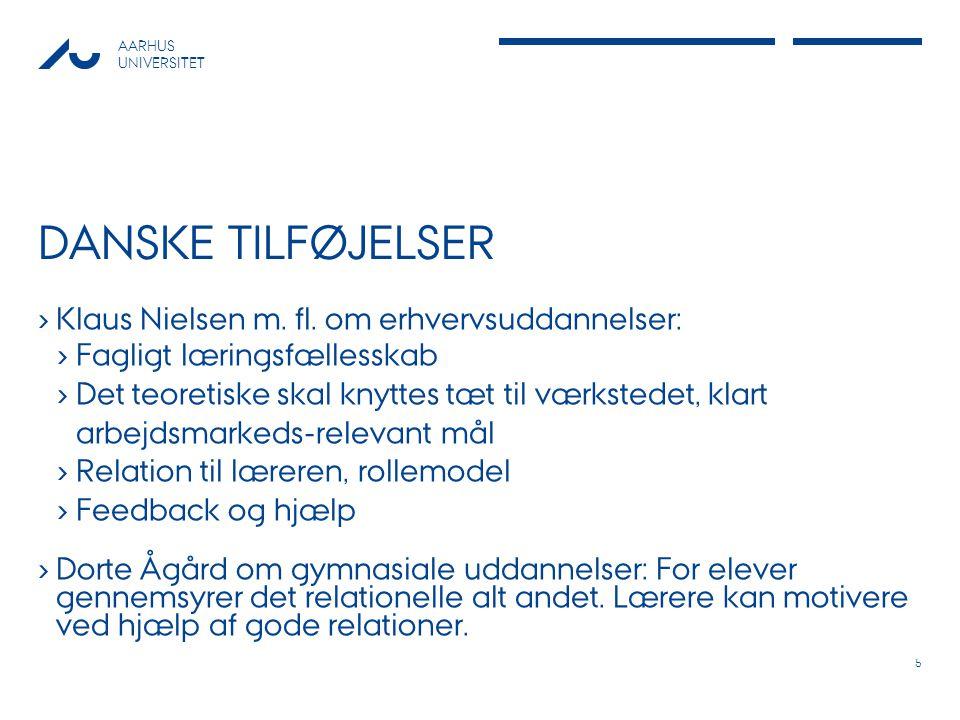 AARHUS UNIVERSITET DANSKE TILFØJELSER › Klaus Nielsen m.
