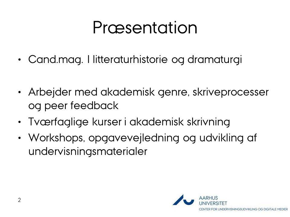 Præsentation Cand.mag.