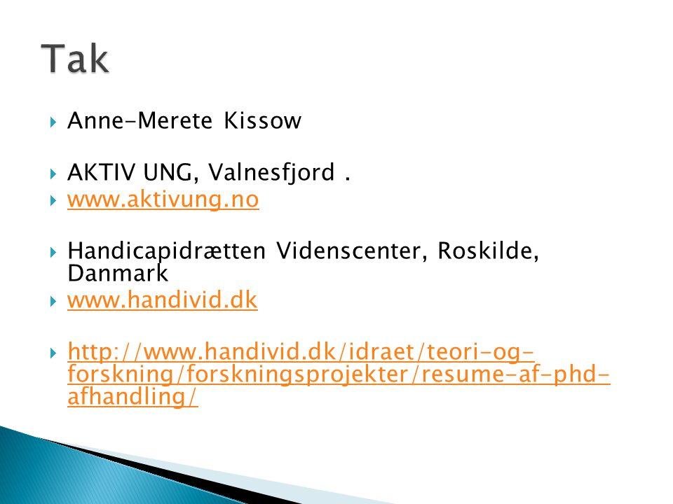  Anne-Merete Kissow  AKTIV UNG, Valnesfjord.