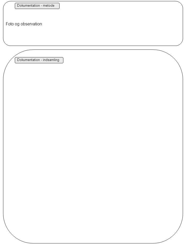 Dokumentation - metode Dokumentation - indsamling Foto og observation