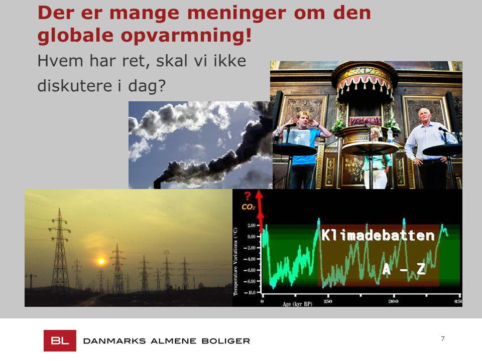 7 Der er mange meninger om den globale opvarmning! Hvem har ret, skal vi ikke diskutere i dag