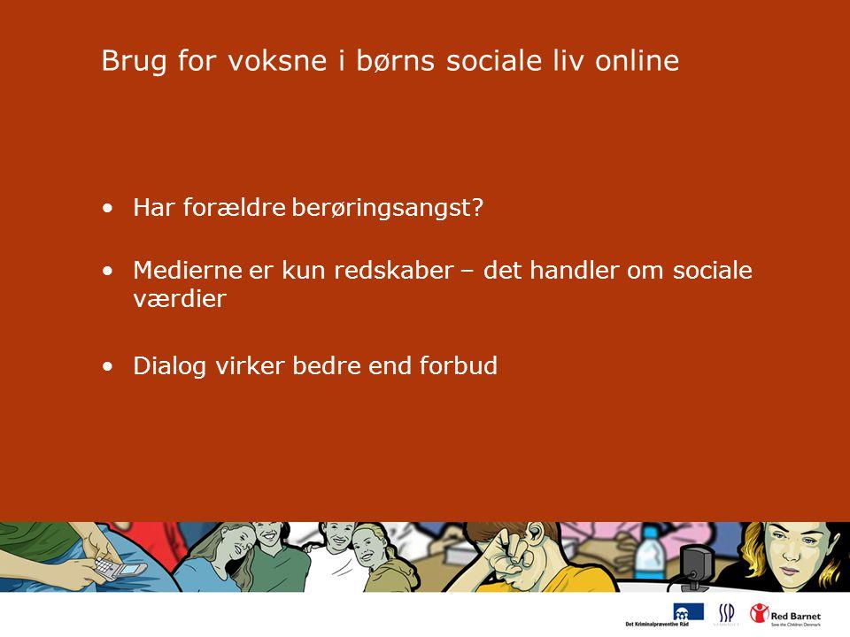 Brug for voksne i børns sociale liv online Har forældre berøringsangst.