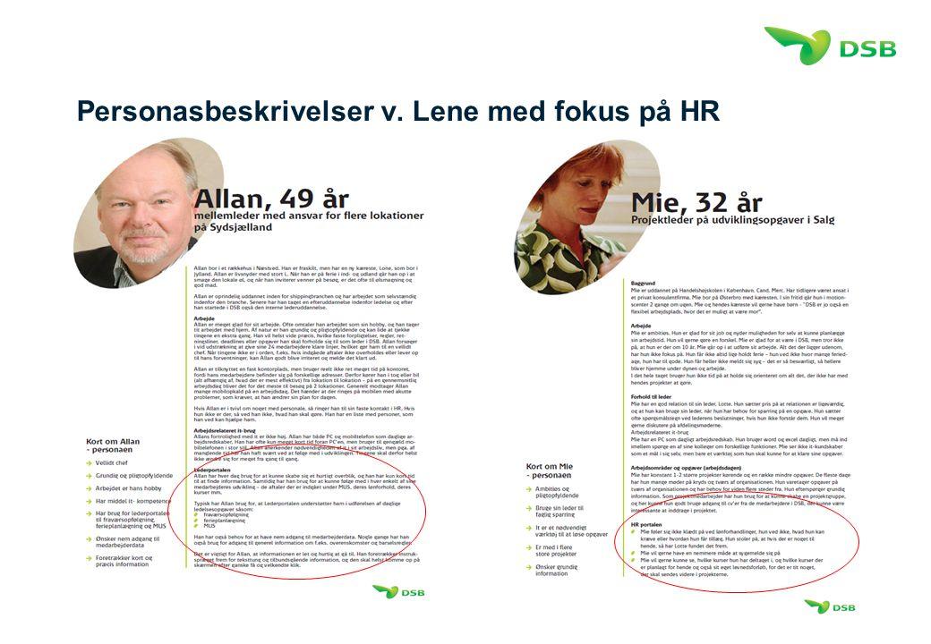 Personasbeskrivelser v. Lene med fokus på HR