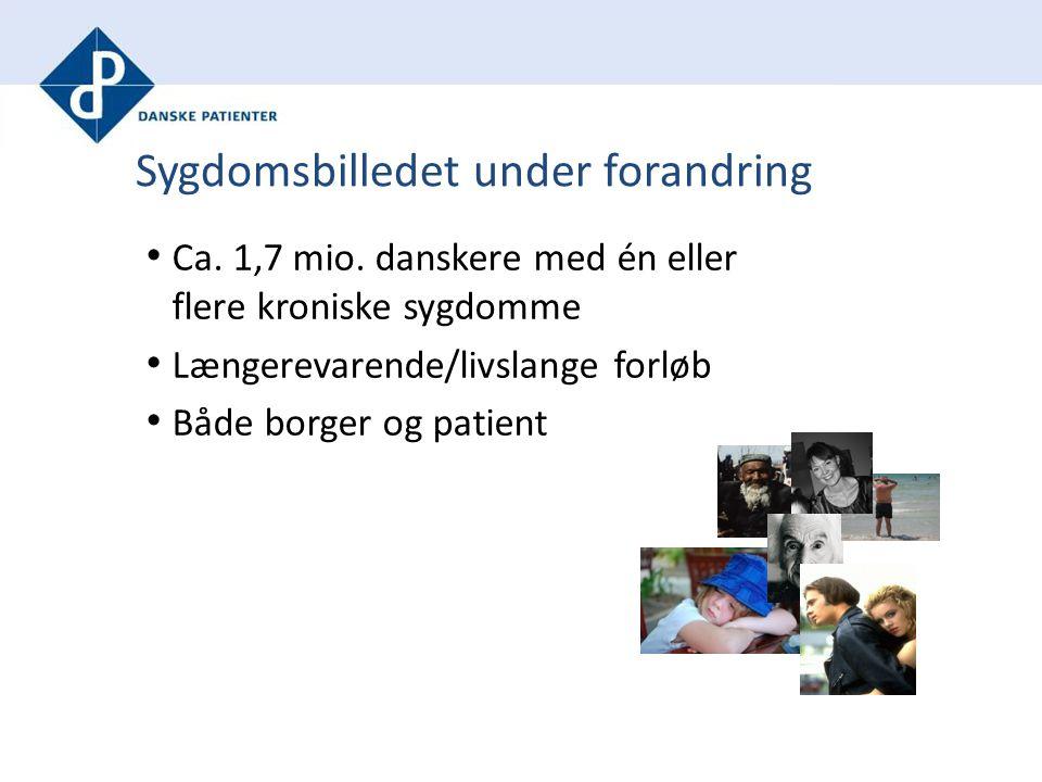 Sygdomsbilledet under forandring Ca. 1,7 mio.